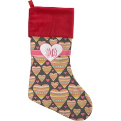 Hearts Christmas Stocking (Personalized)