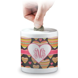 Hearts Coin Bank (Personalized)