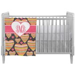 Hearts Crib Comforter / Quilt (Personalized)