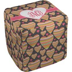 Hearts Cube Pouf Ottoman (Personalized)