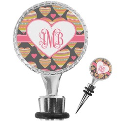 Hearts Wine Bottle Stopper (Personalized)
