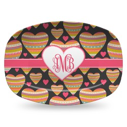 Hearts Plastic Platter - Microwave & Oven Safe Composite Polymer (Personalized)