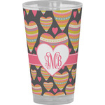 Hearts Drinking / Pint Glass (Personalized)