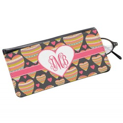 Hearts Genuine Leather Eyeglass Case (Personalized)