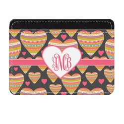 Hearts Genuine Leather Front Pocket Wallet (Personalized)