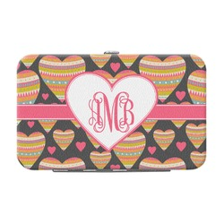 Hearts Genuine Leather Small Framed Wallet (Personalized)