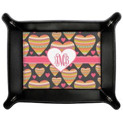 Hearts Genuine Leather Valet Tray (Personalized)