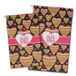 Hearts Golf Towel - Full Print w/ Monogram