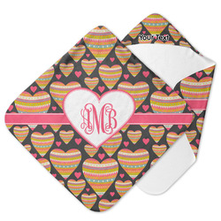 Hearts Hooded Baby Towel (Personalized)