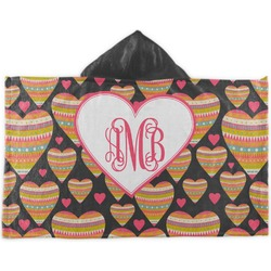 Hearts Kids Hooded Towel (Personalized)