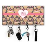 Hearts Key Hanger w/ 4 Hooks w/ Monogram