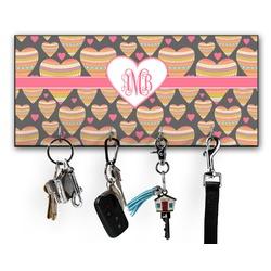 Hearts Key Hanger w/ 4 Hooks (Personalized)