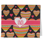 Hearts Kitchen Towel - Full Print (Personalized)