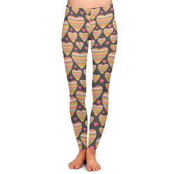 Hearts Ladies Leggings - Large (Personalized)
