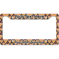 Hearts License Plate Frame (Personalized)