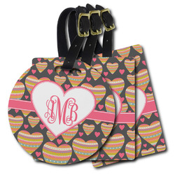 Hearts Plastic Luggage Tags (Personalized)