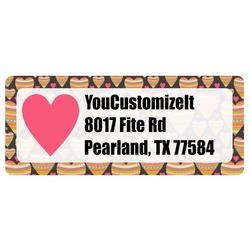Hearts Return Address Label (Personalized)