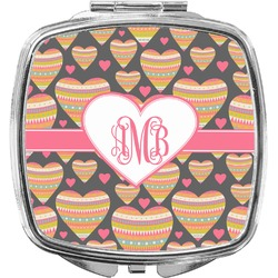 Hearts Compact Makeup Mirror (Personalized)