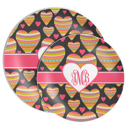 Hearts Melamine Plate (Personalized)