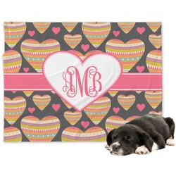 Hearts Minky Dog Blanket - Large  (Personalized)