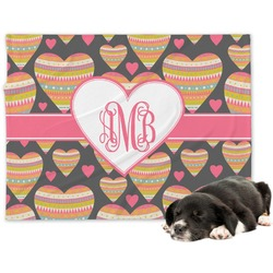 Hearts Dog Blanket (Personalized)