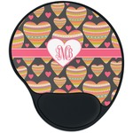 Hearts Mouse Pad with Wrist Support