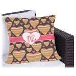 Hearts Outdoor Pillow (Personalized)
