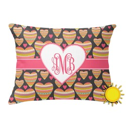 Hearts Outdoor Throw Pillow (Rectangular) (Personalized)