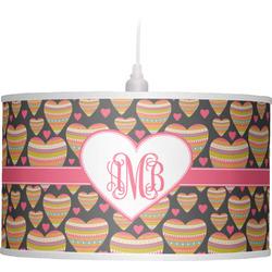 Hearts Drum Pendant Lamp (Personalized)