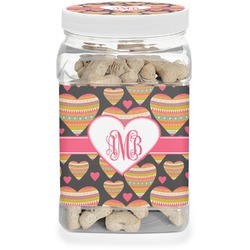 Hearts Pet Treat Jar (Personalized)