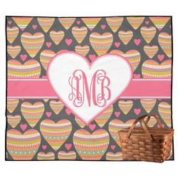 Hearts Outdoor Picnic Blanket (Personalized)
