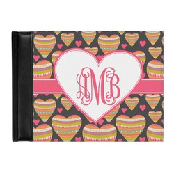 Hearts Genuine Leather Guest Book (Personalized)