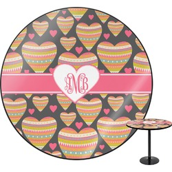 Hearts Round Table (Personalized)