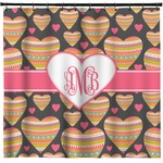 Hearts Shower Curtain (Personalized)