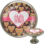 Hearts Cabinet Knob (Silver) (Personalized)