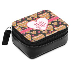 Hearts Small Leatherette Travel Pill Case (Personalized)