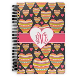 Hearts Spiral Bound Notebook (Personalized)