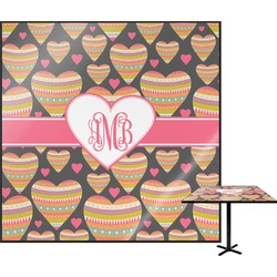 Hearts Square Table Top (Personalized)
