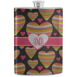 Hearts Stainless Steel Flask (Personalized)