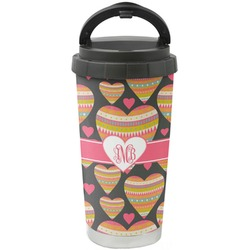 Hearts Stainless Steel Travel Mug (Personalized)
