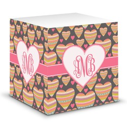 Hearts Sticky Note Cube (Personalized)