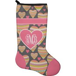 Hearts Christmas Stocking - Neoprene (Personalized)
