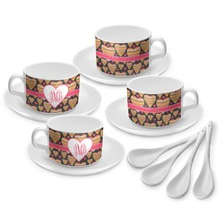 Hearts Tea Cup - Set of 4 (Personalized)