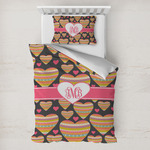 Hearts Toddler Bedding w/ Monogram