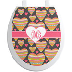 Hearts Toilet Seat Decal (Personalized)