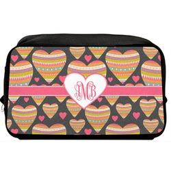 Hearts Toiletry Bag / Dopp Kit (Personalized)