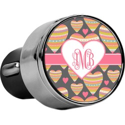 Hearts USB Car Charger (Personalized)