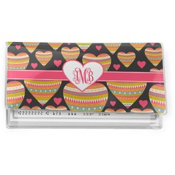 Hearts Vinyl Checkbook Cover (Personalized)