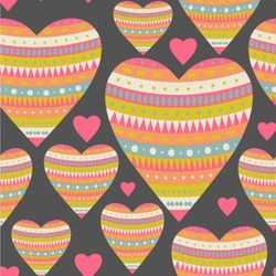 """Hearts Wallpaper & Surface Covering (Peel & Stick 24""""x 24"""" Sample)"""