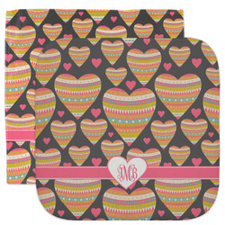 Hearts Facecloth / Wash Cloth (Personalized)